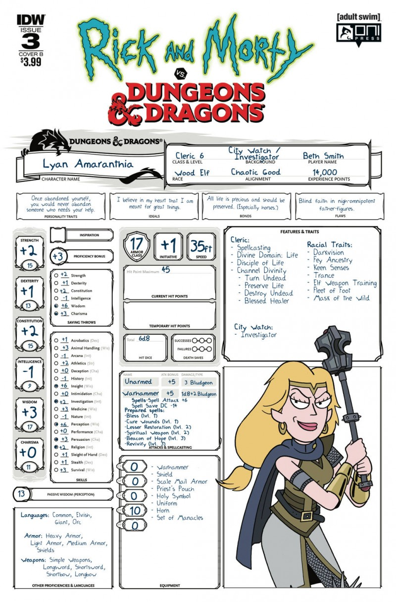 Rick and Morty Vs Dungeons and Dragons #3 CVR B