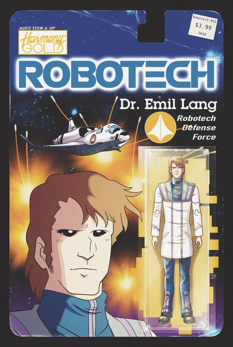 Robotech #15 CVR B Action Figure