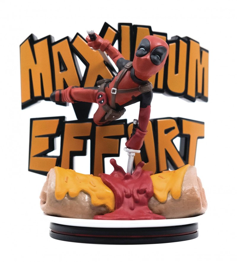 Q-Figure Marvel Deadpool Maximum Effort Max Diorama