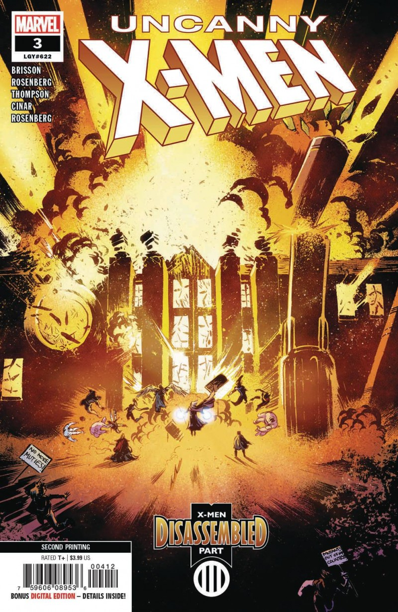 Uncanny X-Men  #3 Second Printing