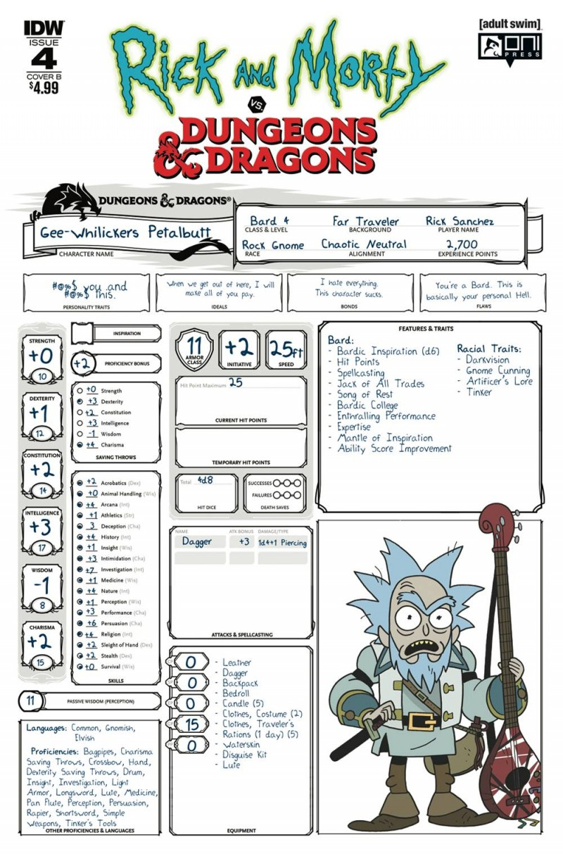 Rick and Morty Vs Dungeons and Dragons #4 CVR B