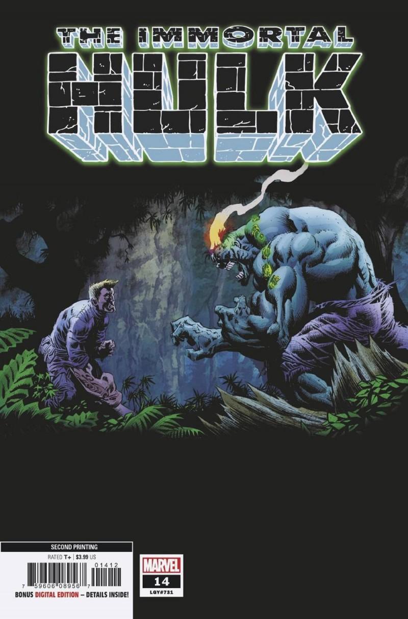 Immortal Hulk #14 Second Printing Hotz