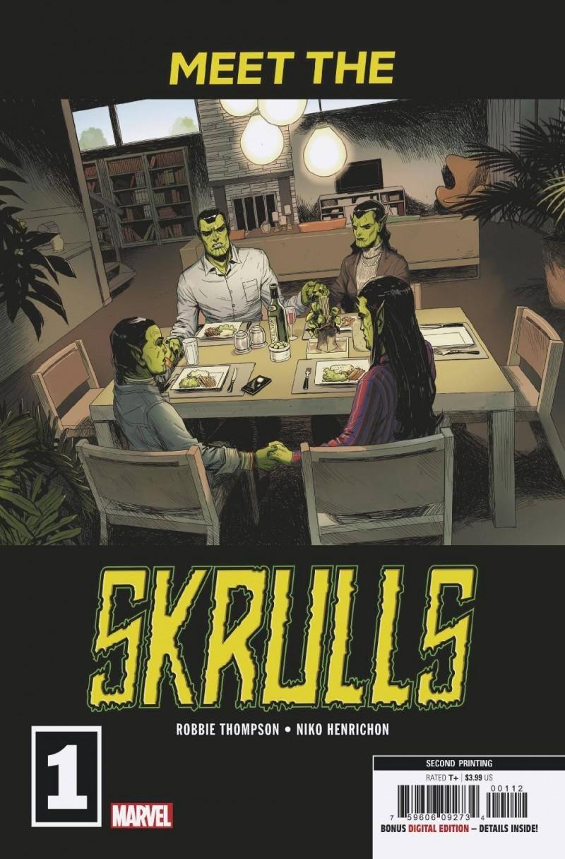 Meet the Skrulls #1 Second Printing Martin