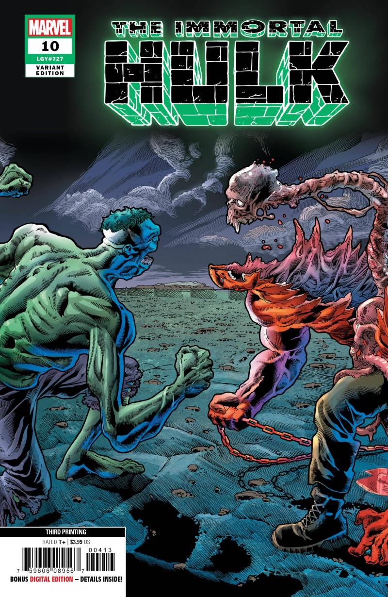 Immortal Hulk #10 Third Printing Bennett