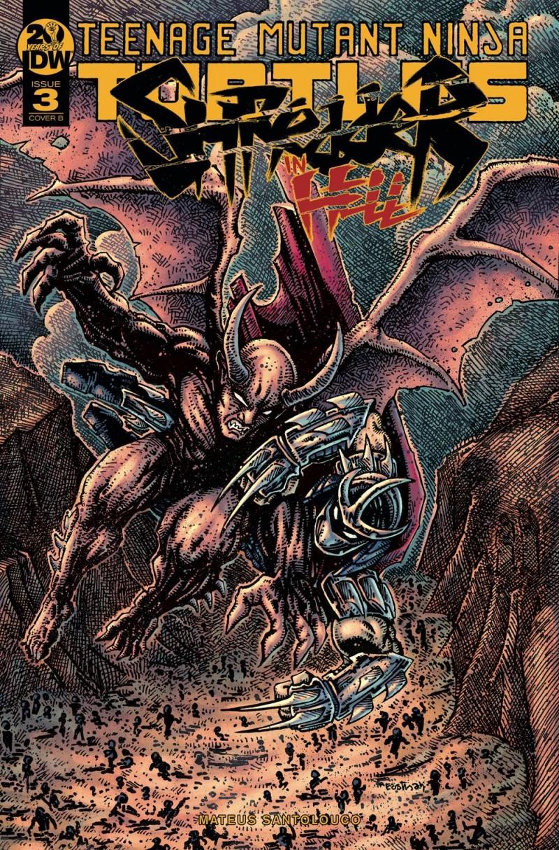 TMNT Shredder In Hell #3 CVR B Eastman