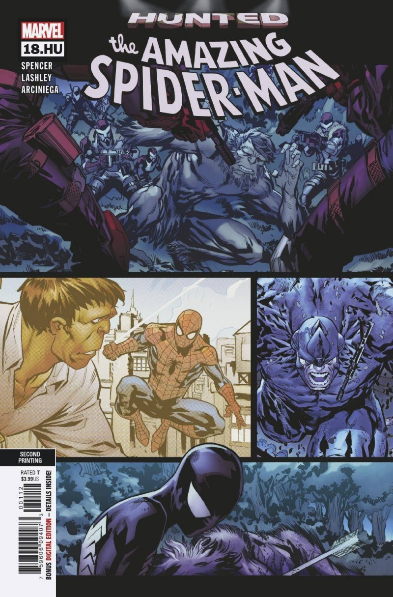 Amazing Spider-Man V5 #18.hu Second Printing Lashley