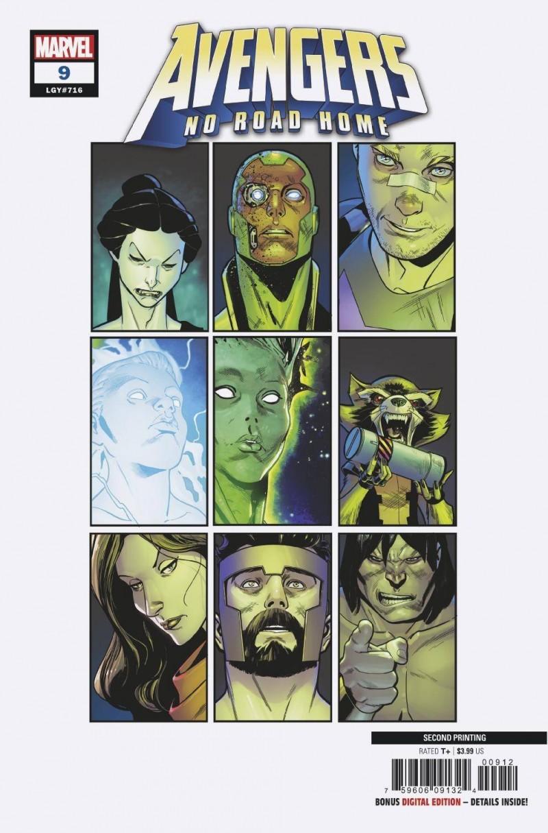 Avengers No Road Home #9 Second Printing Medina