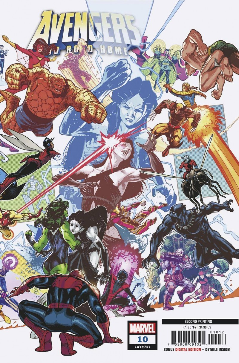 Avengers No Road Home #10 Second Printing Izaakse