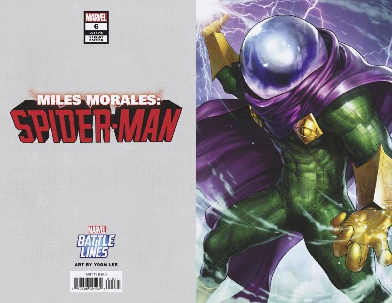 Miles Morales Spider-Man #6 Variant Yoon Lee Marvel Battle Lines