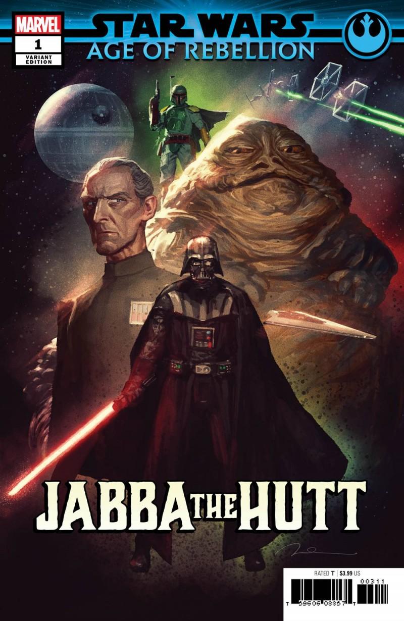 Star Wars Age of Republic One-Shot Jabba the Hutt Variant Parel Villains