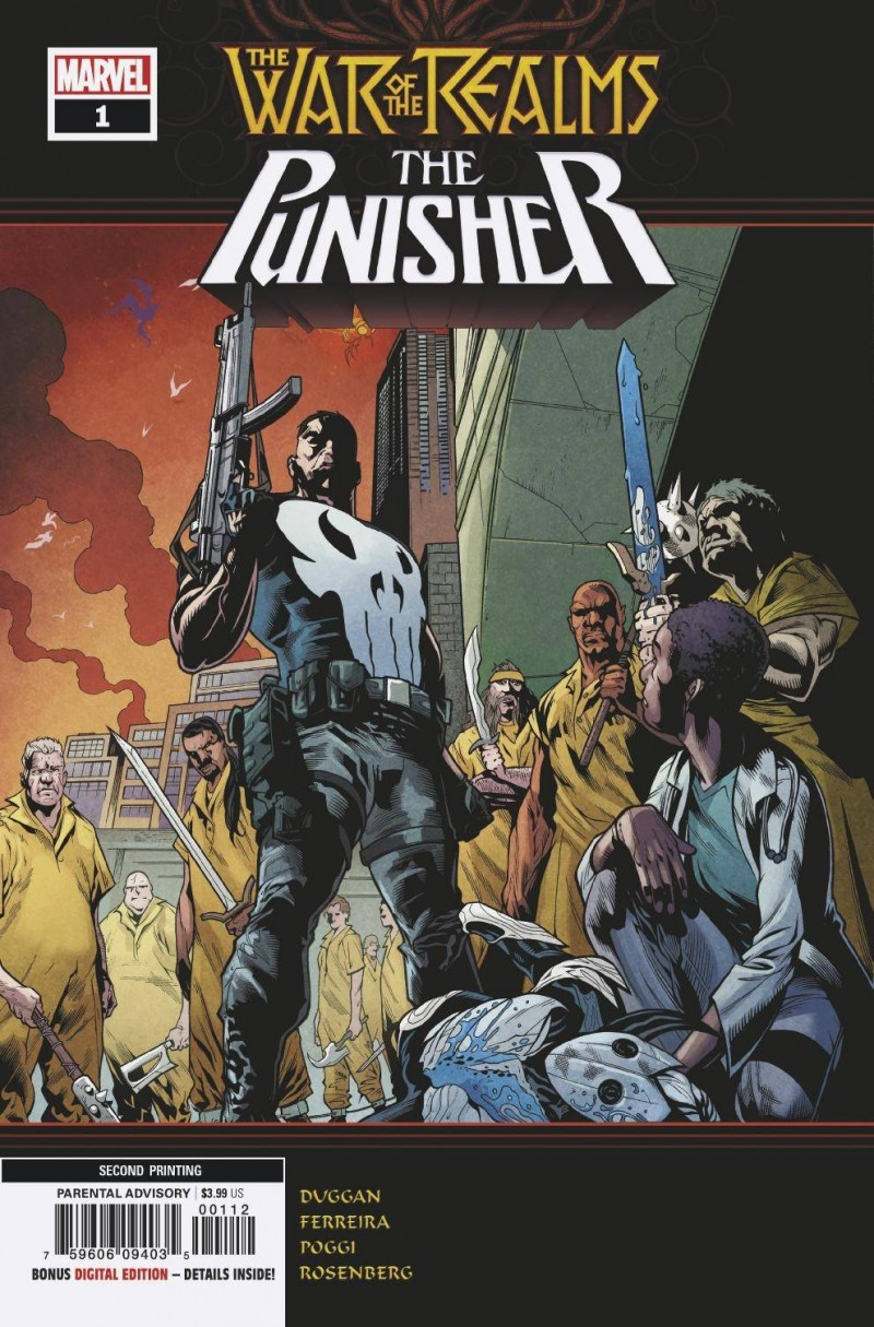 War of Realms Punisher #1 Second Printing Ferreira