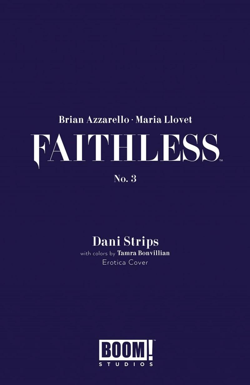 Faithless #3 CVR B Erotica Strips