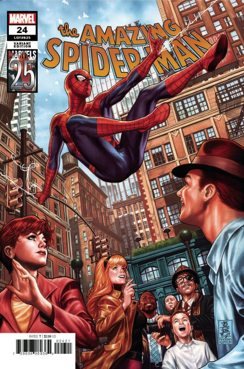 Amazing Spider-Man  #24 Variant Brooks Marvels 25th Tribute