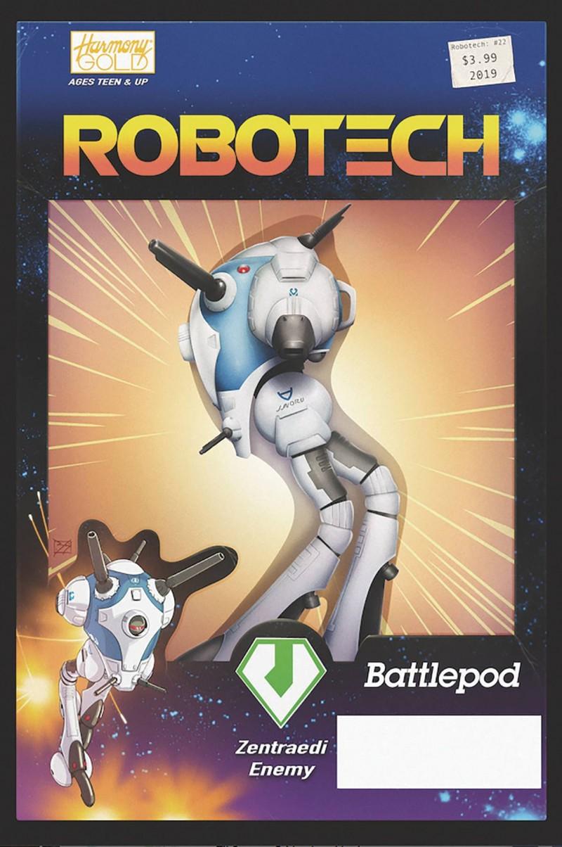 Robotech #22 CVR B Vehicle Action Figure Var