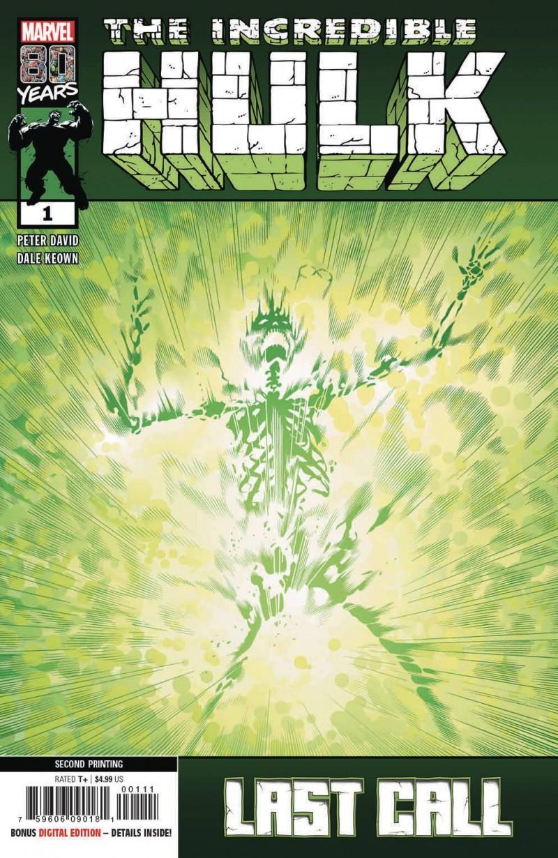 Incredible Hulk Last Call #1 Second Printing Keown