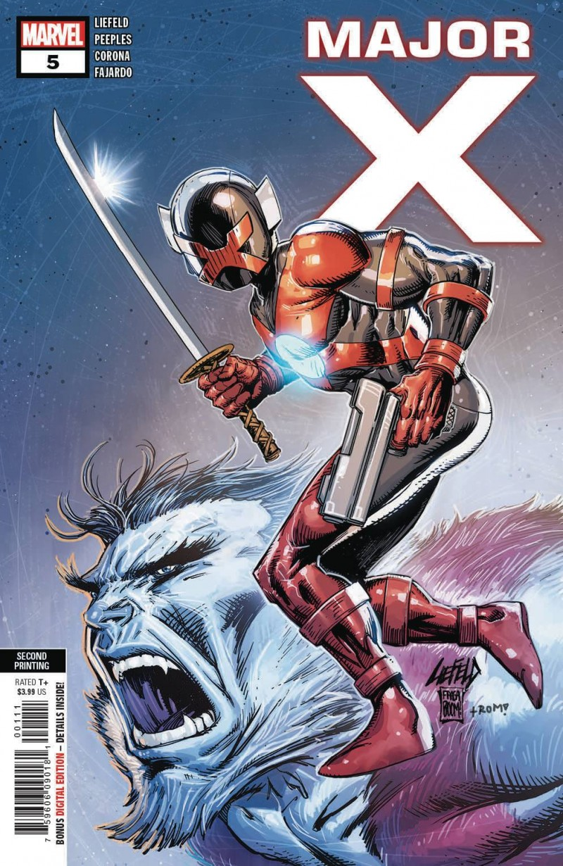 Major X #5 Second Printing Liefeld