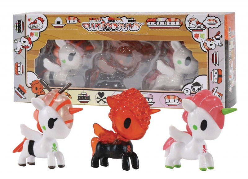 Tokidoki Figure Set Sushicorno 3-Pieces