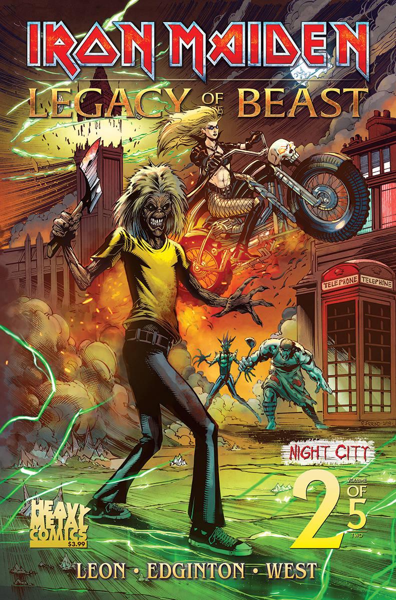 Iron Maiden Legacy of the Beast  #2 Night City