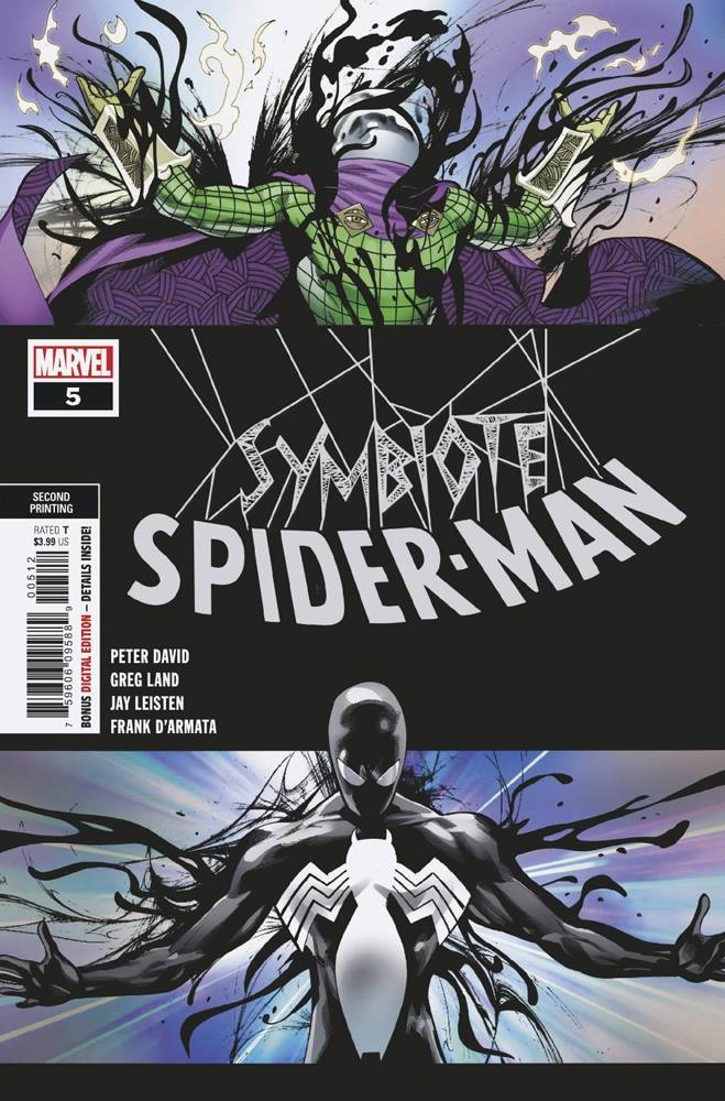 Symbiote Spider-Man #5 Second Printing Land