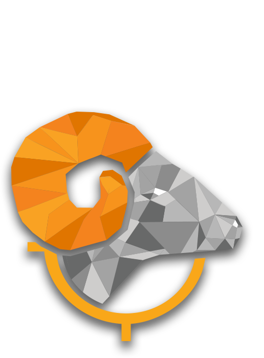 low poly big horn sheep graphic