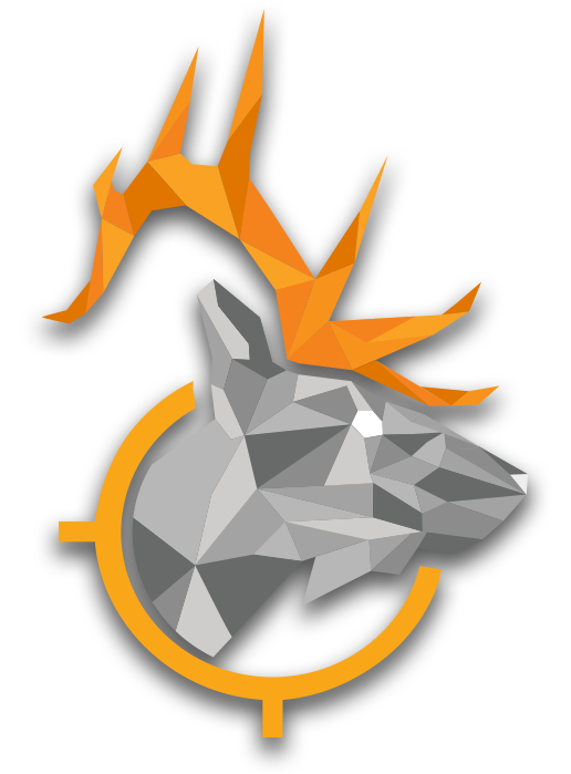 low poly elk graphic