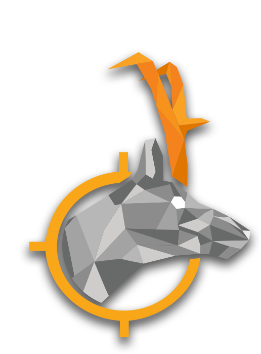 low poly antelope graphic
