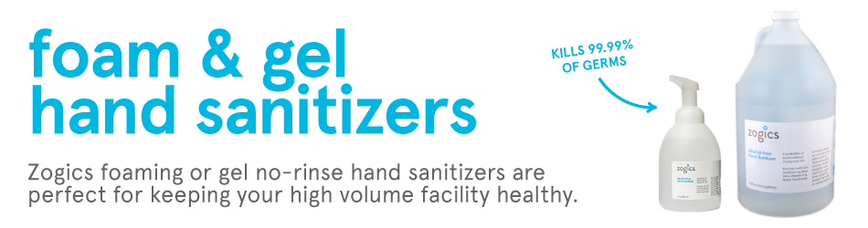 Zogics Foam & Gel Hand Sanitizers