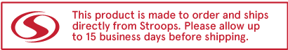 Stroops products are made to order and ship directly from Stroops. Please allow an extra 5-7 business days before shipping.