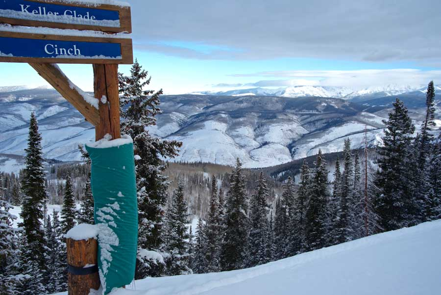 There are always places to find snow at Beaver Creek.